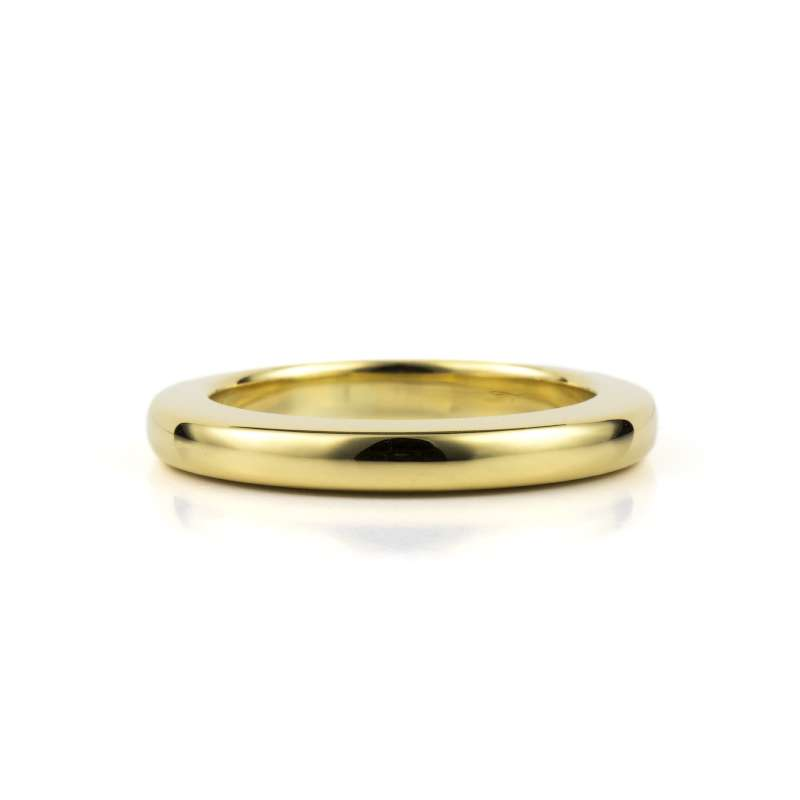 18k Yellow Gold 2.5mm Court Style Wedding Band
